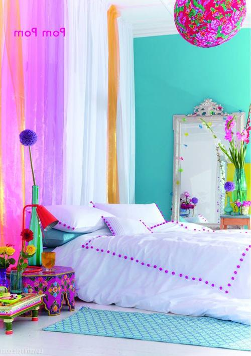a colorful bedroom Bright Colored Bedroom colorful bedroom home bright colors neon  709 X 500