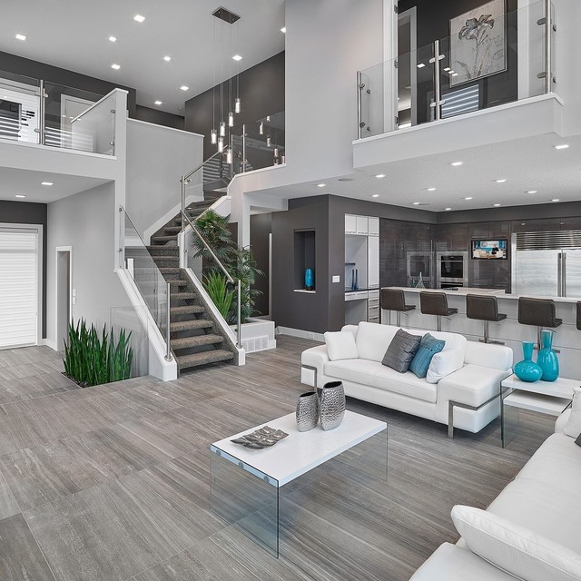 a living room design Top 30 Gray Living Room Ideas & Remodeling Photos | Houzz 640 X 640