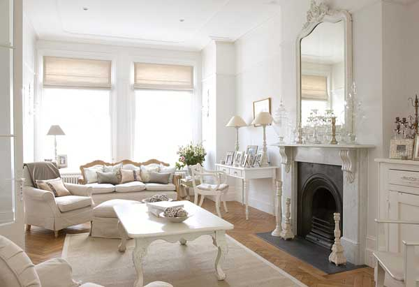 a living room in french Living Room: Clic French Country Sofa With Chandelier And Pretty  411 X 600