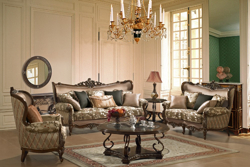 a living room in french Micado French Style Living Room Set   Living Room Furniture  667 X 1000
