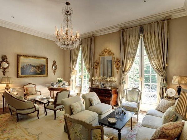 a living room in french French Style Living Room Regarding Encourage | Iagitos.com 450 X 600