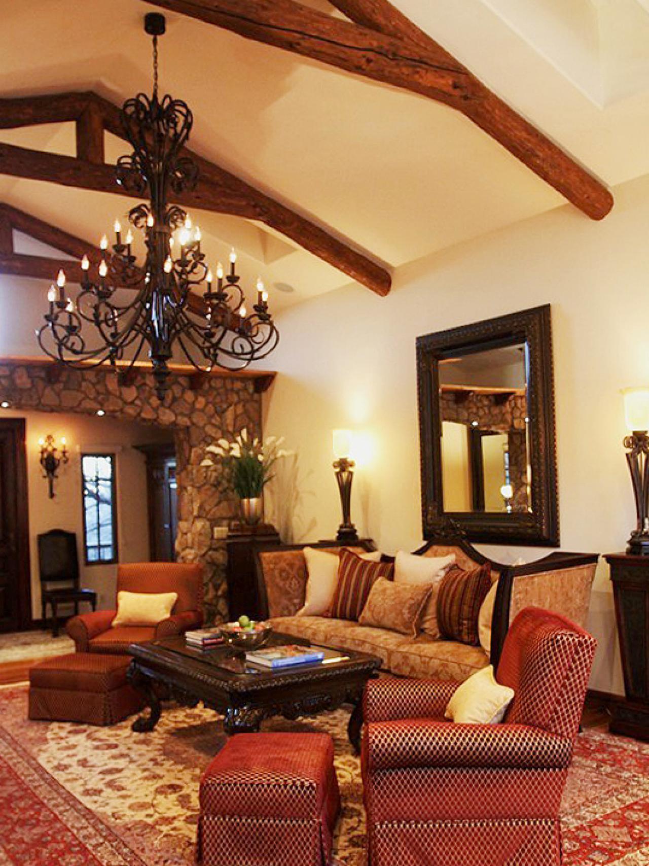 a living room in spanish Spanish Colonial Remodel   Mediterranean   Living Room   Phoenix  426 X 640