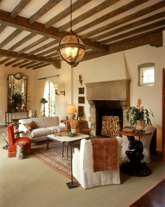 a living room in spanish Spanish Colonial   Living Room | Dream House   Living Room  602 X 894