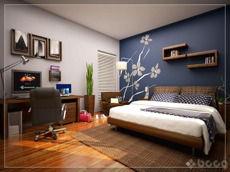 bedroom color accent wall Bedroom Painting Ideas With Accent Wall | ideas 675 X 900