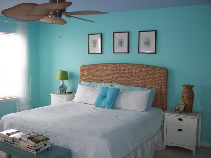 bedroom color aqua Color Changes Everything–Aqua Master Bedroom Makeover | Aqua  515 X 687