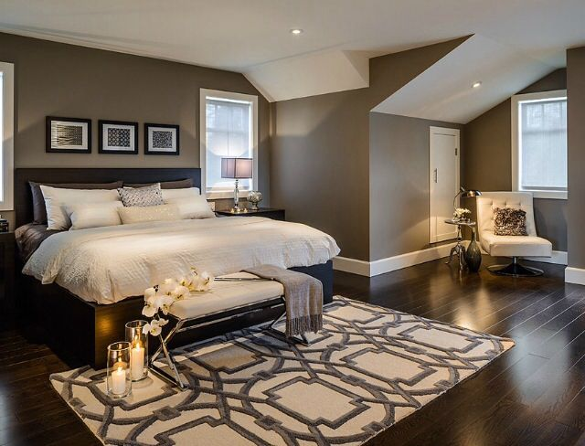 bedroom color black furniture Interior. Awesome Contemporary Gray Bedroom Ideas With An Accent  704 X 938