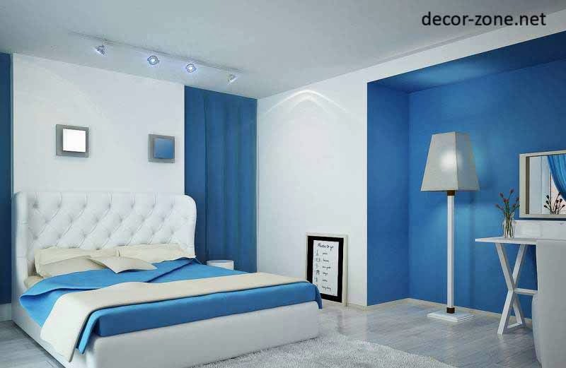 bedroom color blue combination Rich Blue and Pink Interior Decorating, Paint Colors and Modern  399 X 600