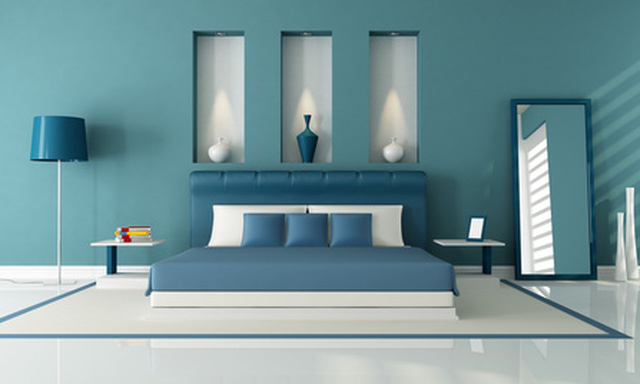 bedroom color blue combination Bedroom Paint Color Shade Ideas Blue And Green Bedroom Color  817 X 1024