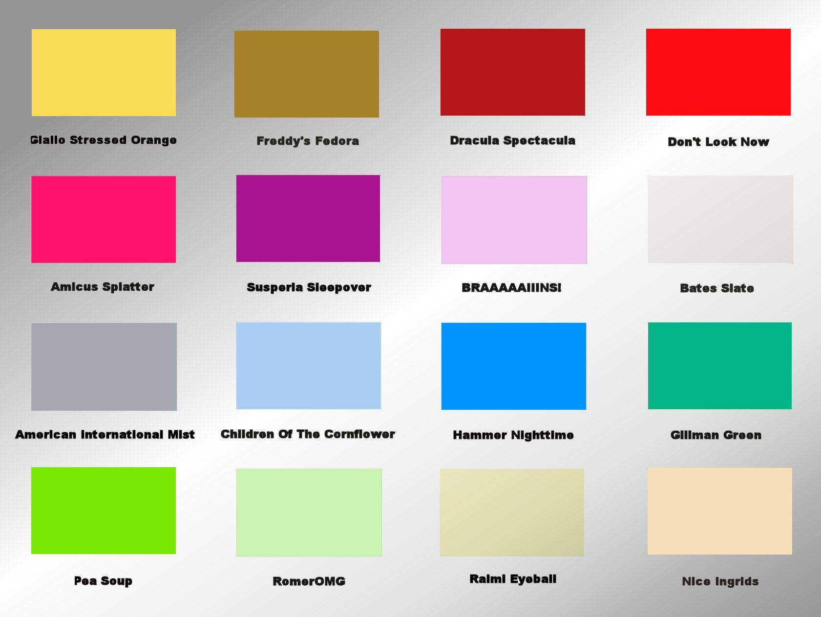 Bedroom color chart oh style - Bedroom colors and moods ...