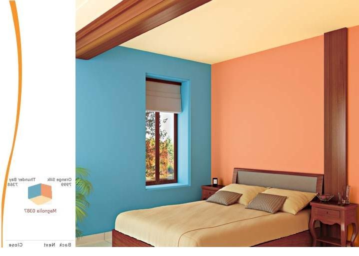 bedroom color combination asian paints Cool Interior Wall Color Combinations Asian Paints   Wall Painting  512 X 718