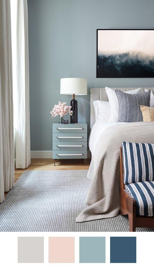 bedroom color combination with blue 5 Killer Color Palettes To Try if You Love Blue   Apartment  1114 X 640