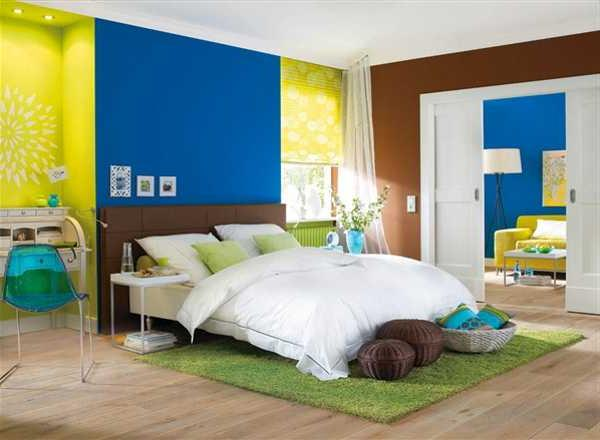 bedroom color combination with blue Blue And Yellow Bedroom Color Schemes For Top Blue Yellow Gray  440 X 600
