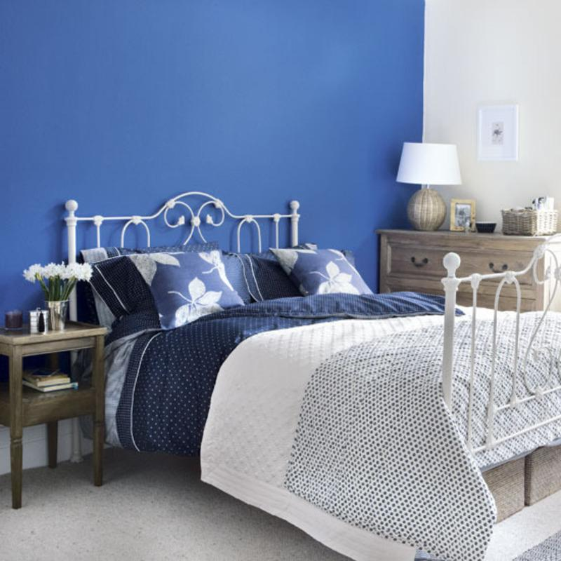 bedroom color combination with blue Blue bedroom color schemes   large and beautiful photos. Photo to  800 X 800