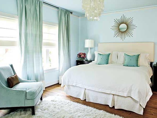 bedroom color combination with blue 20 Fantastic Bedroom Color Schemes 450 X 600