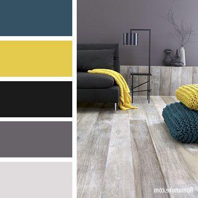 bedroom color combinations with grey Bleu Jaune Noir Gris … | Pinteres… 400 X 400