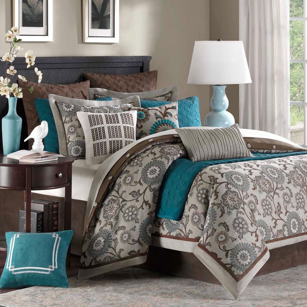 bedroom color combinations with grey 22 Beautiful Bedroom Color Schemes   Decoholic 990 X 990