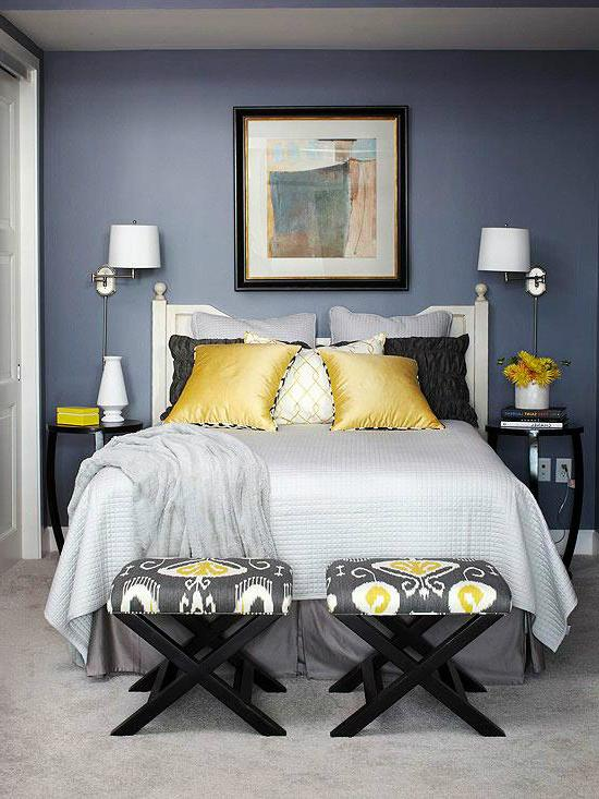 bedroom color combinations with grey 22 Beautiful Bedroom Color Schemes   Decoholic 733 X 550