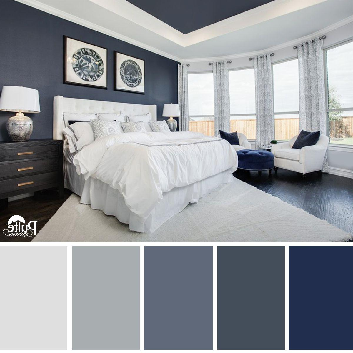 bedroom color combos This bedroom design has the right idea. The rich blue color  1200 X 1200