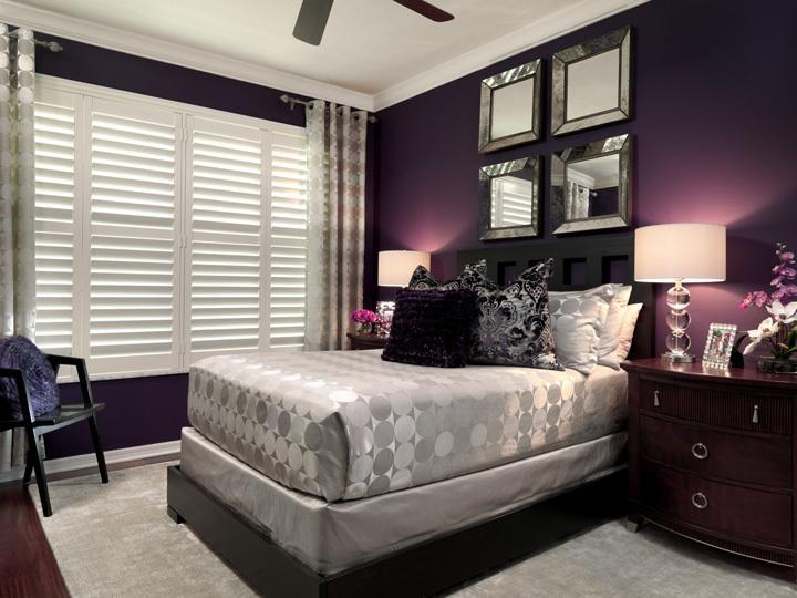 bedroom color dark The Most Popular Benjamin Moore Purples (and Purple Undertones  540 X 720