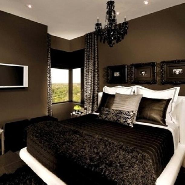 bedroom color dark Stunning Penthouse Apartment in Phoenix   Bedroom black, Bedrooms  612 X 612