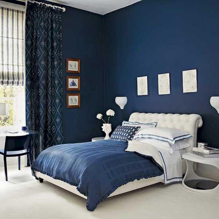 bedroom color dark Blue Bedroom Color Schemes Prepossessing Decor E Dark Blue  736 X 736