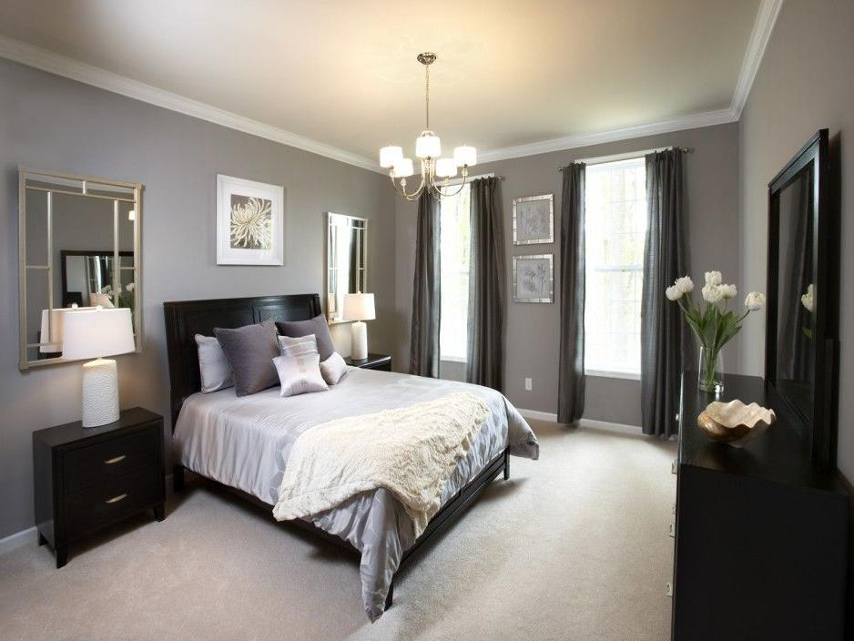 bedroom color dark furniture Interior. Awesome Contemporary Gray Bedroom Ideas With An Accent  704 X 938