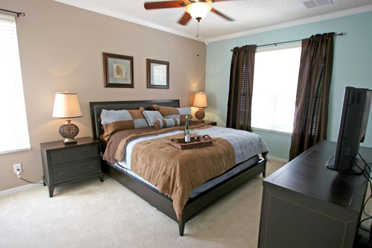 bedroom color dark wood bedroom color Bold design bedroom with dark green wall and dark  828 X 1200