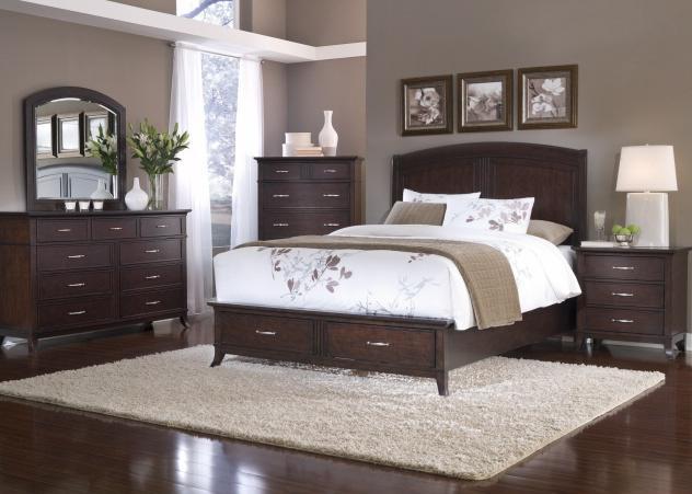 bedroom color dark wood Best Curtain Color With Dark Wood Floors   Wood Floors | paint  451 X 632