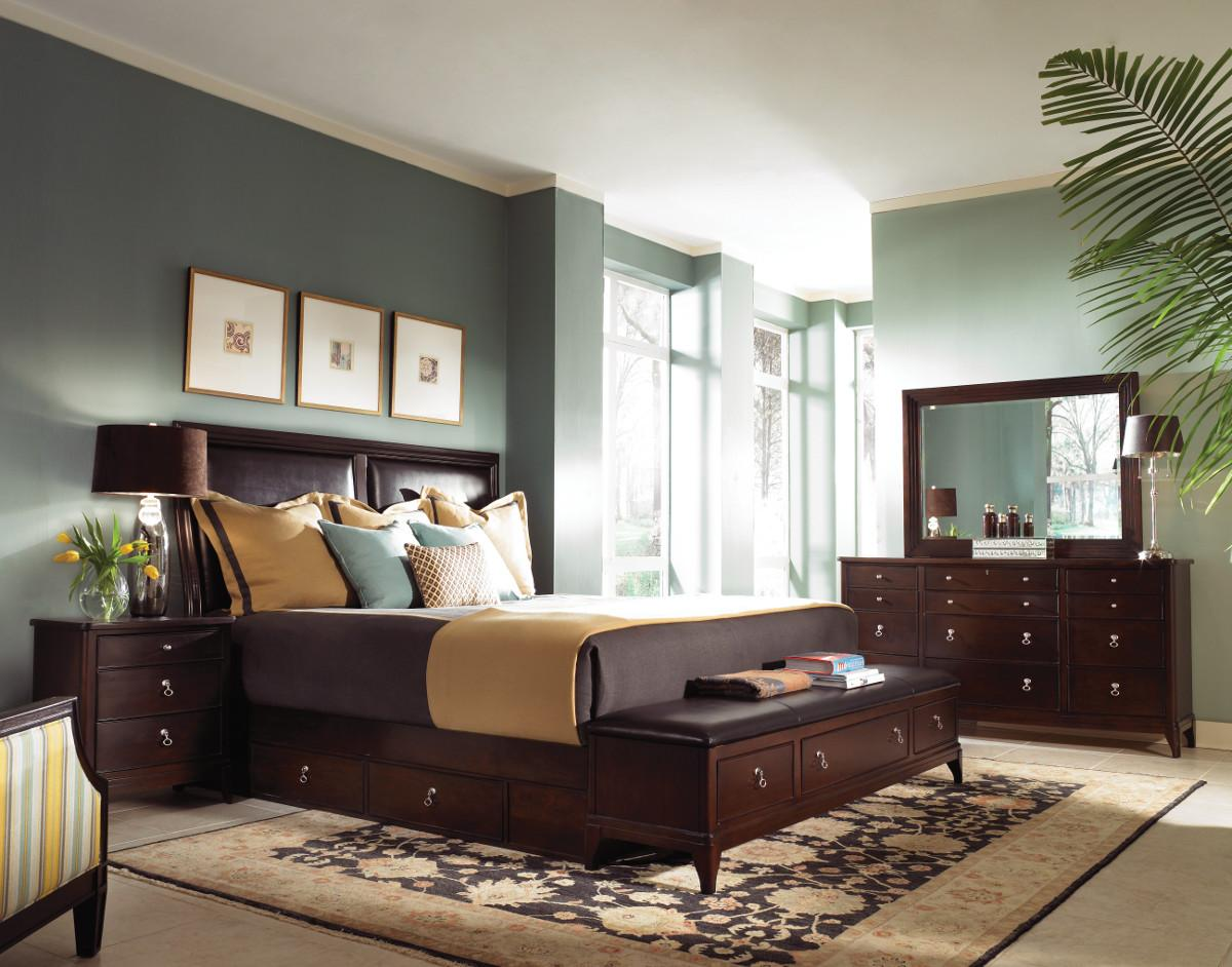 bedroom color dark wood paint colors with dark wood furniture | Wall paint colors  428 X 600