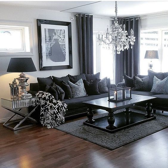 black n white living room ideas 1000+ images about Home projects on Pinterest | Trestle table  564 X 564