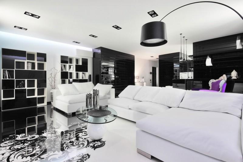 black n white living room ideas Choosing sophiscated and elegant colour like black and white  533 X 800