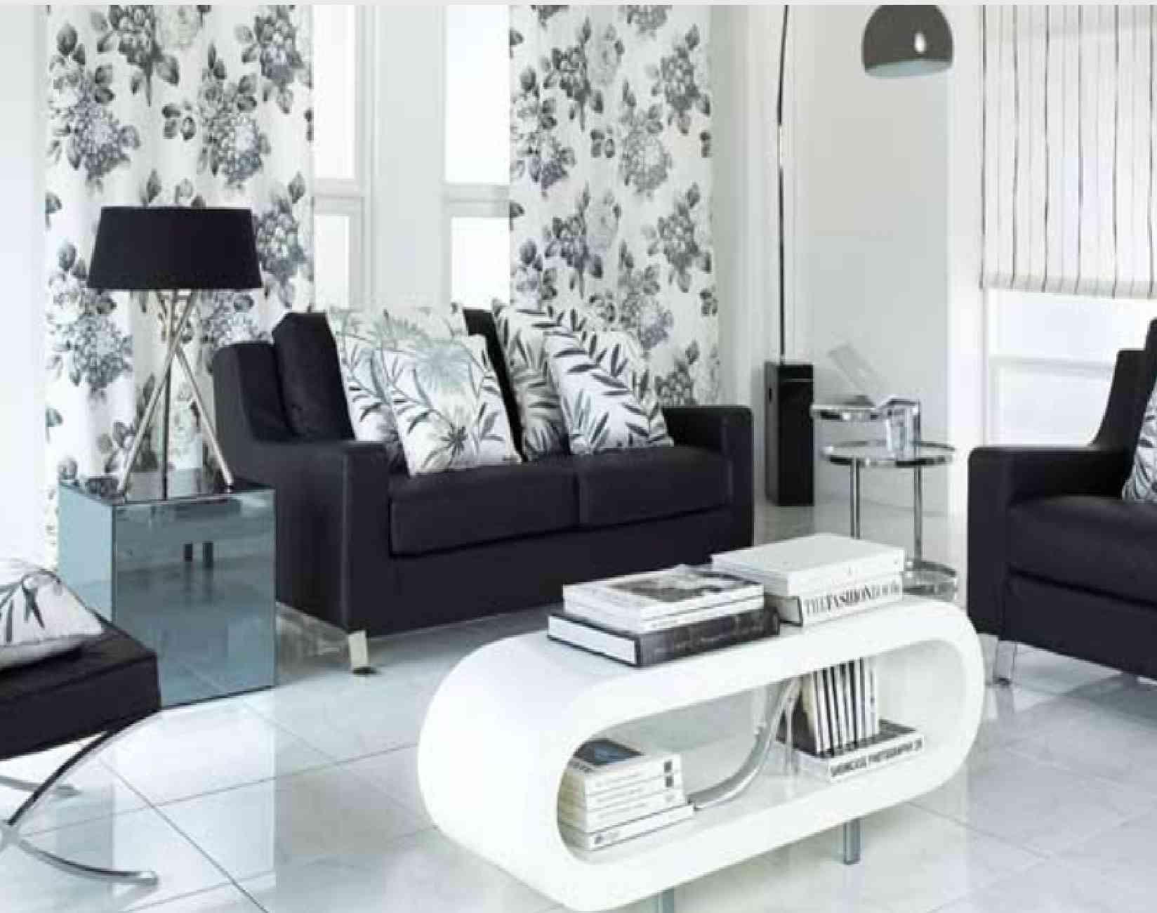 black n white living room ideas White On White Living Room Decorating Ideas Elegant Black And  1300 X 1648