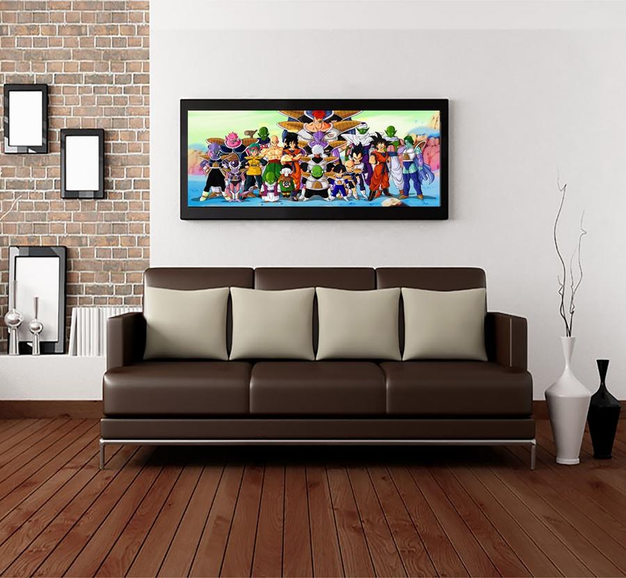 dragon ball z living room A2799 Dragon ball z wallpaper Children's Cartoon. HD Canvas Print  900 X 900