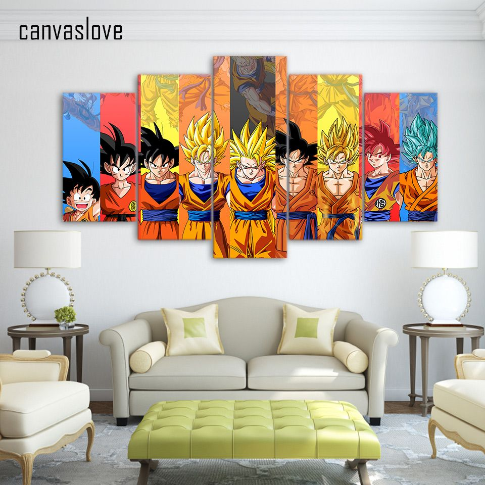 dragon ball z living room 5 Painting Modern Decoration Picture Dragon Ball Z Canvas Painting  960 X 960