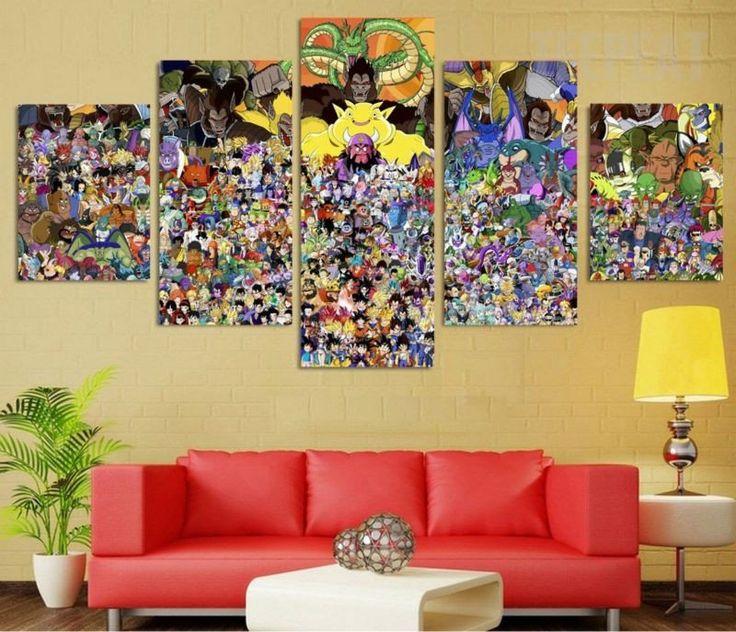 dragon ball z living room A2799 Dragon ball z wallpaper Children's Cartoon. HD Canvas Print  830 X 900