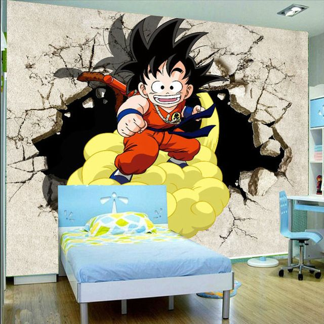dragon ball z living room Wall Picture 5 piece canvas art dragon ball Z poster Goku modeling  960 X 960