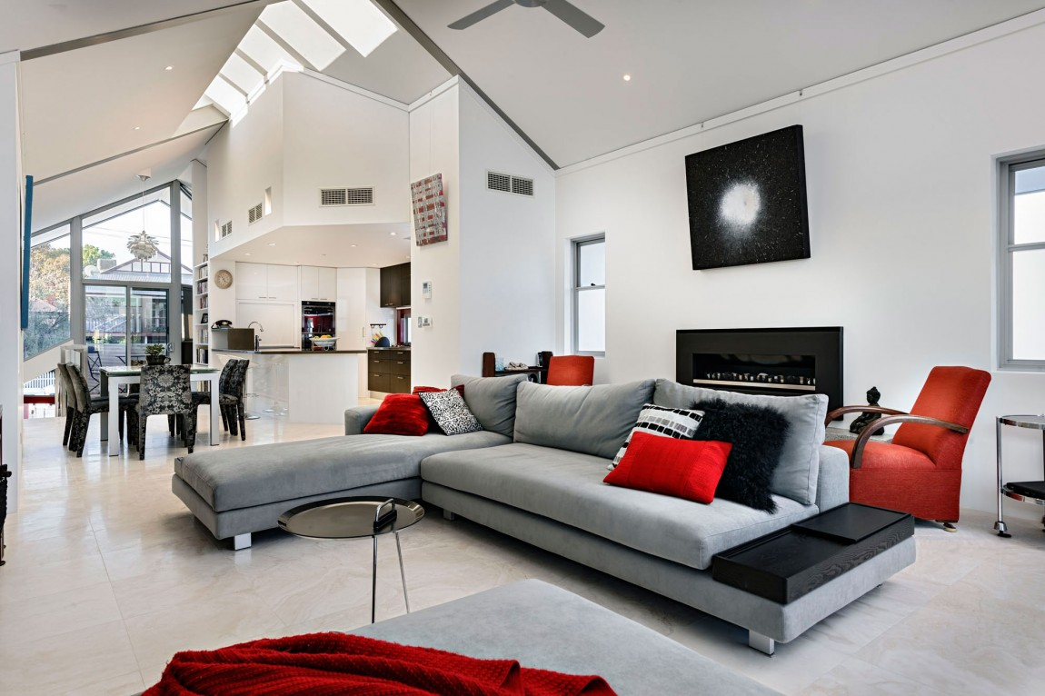 grey n red living room Decorating With Red Accents   Home Decor 2018 766 X 1150