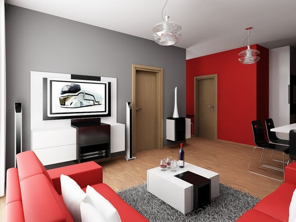 grey n red living room Images Of Red And Grey Living Rooms | Gopelling.net 395 X 700