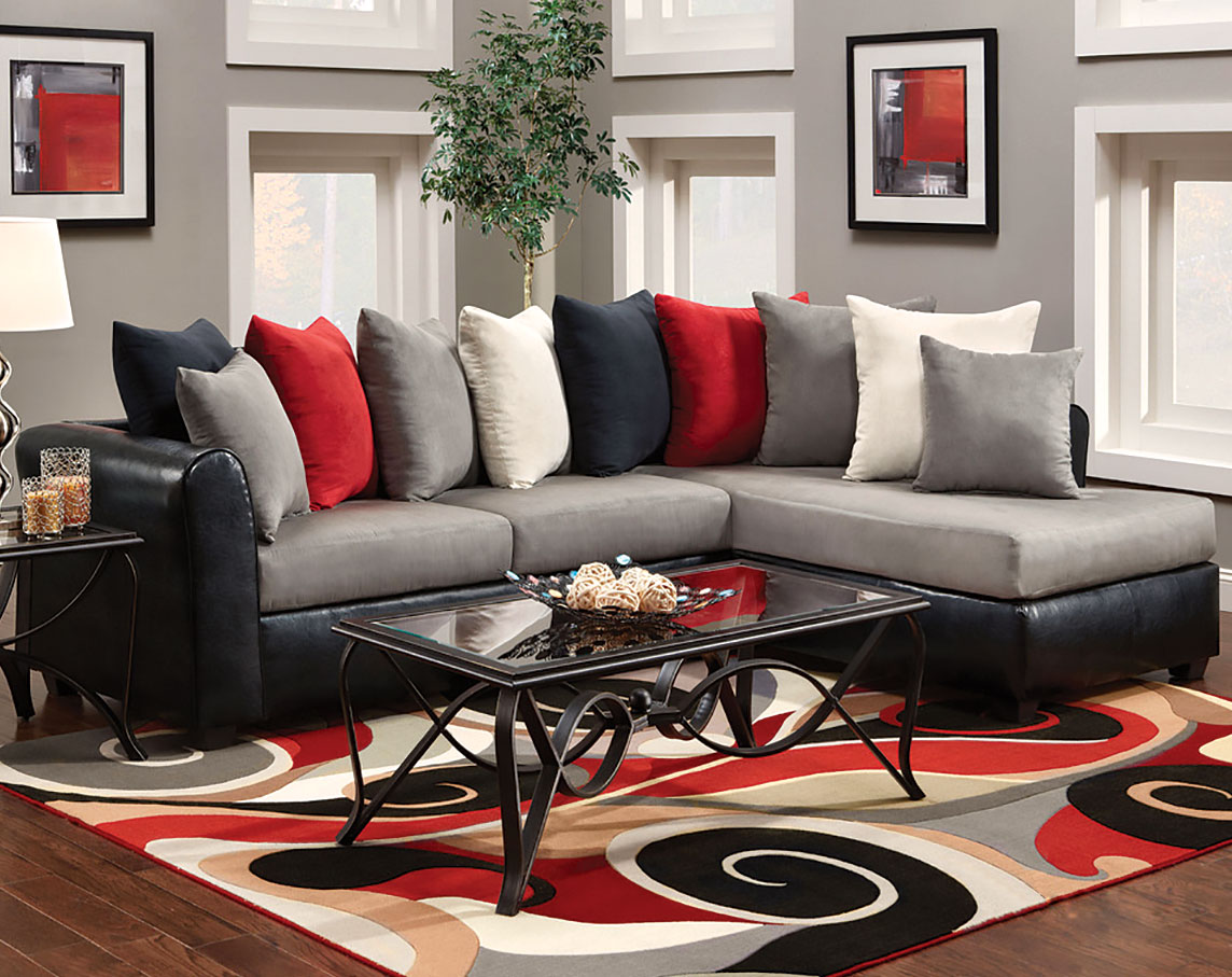 grey n red living room Living: Awesome Red Black Living Room: 12 Red Black Living Room  768 X 1024