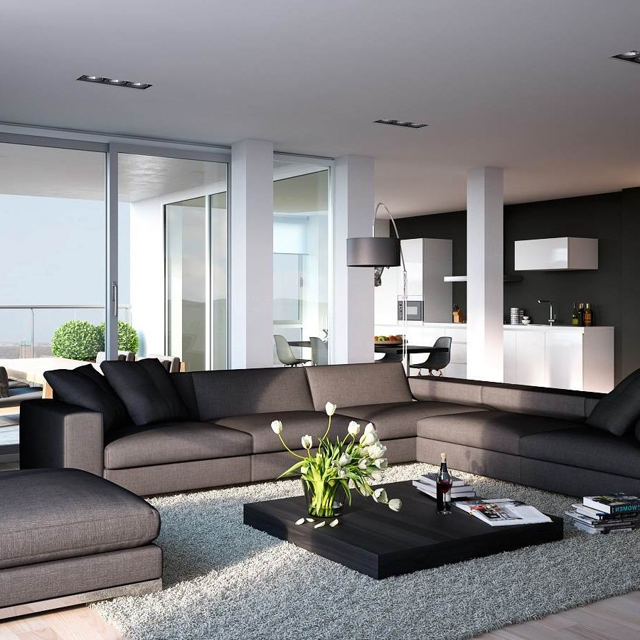 grey n red living room Apartements: Fetching Contemporary Apartment Living Room With  768 X 1024