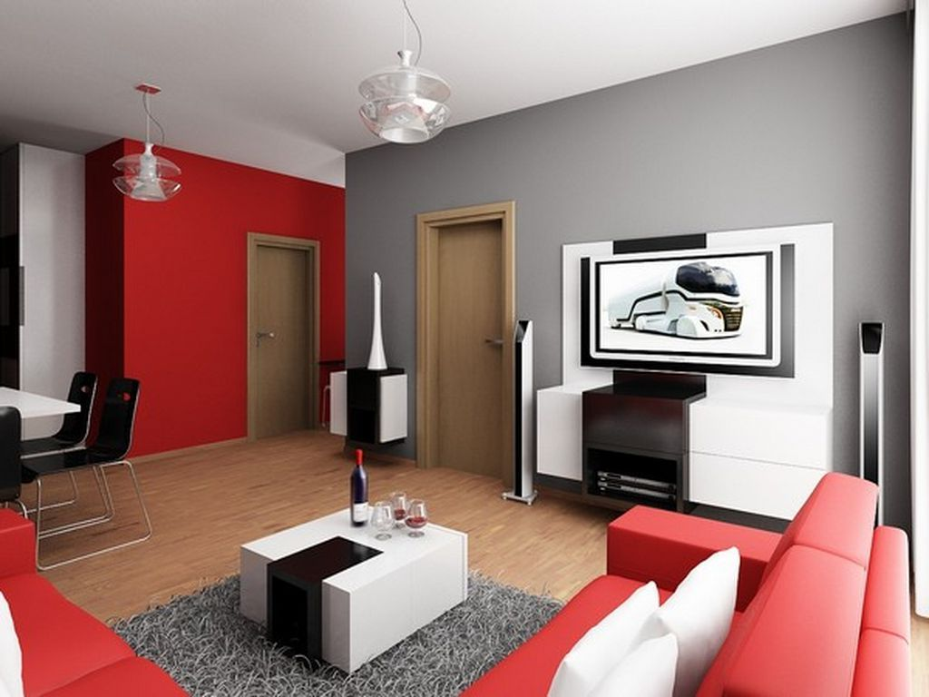 grey n red living room Grey Black And Red Living Rooms   Coma Frique Studio #765939d1776b 552 X 736