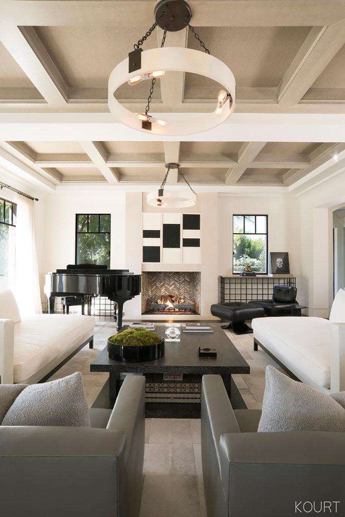 kourtney k living room 5 Ways Kourtney Kardashian Decorates with Neutrals in Her  2323 X 3500