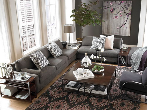 l living room furniture L shaped living/dining room is a challenge | Shapes, Extensions  313 X 405