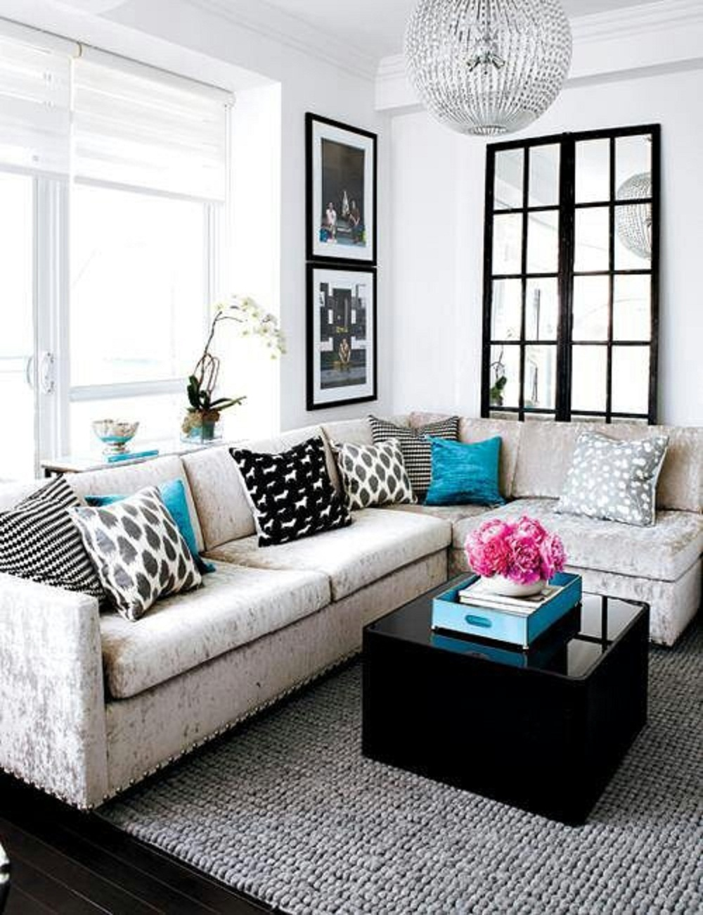 l living room ideas minimalist small living room interior with L shaped sofa set and  1300 X 1000
