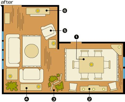 l shaped living room furniture placement photos Furniture layout for my split level living room | Whispering Woods  334 X 409