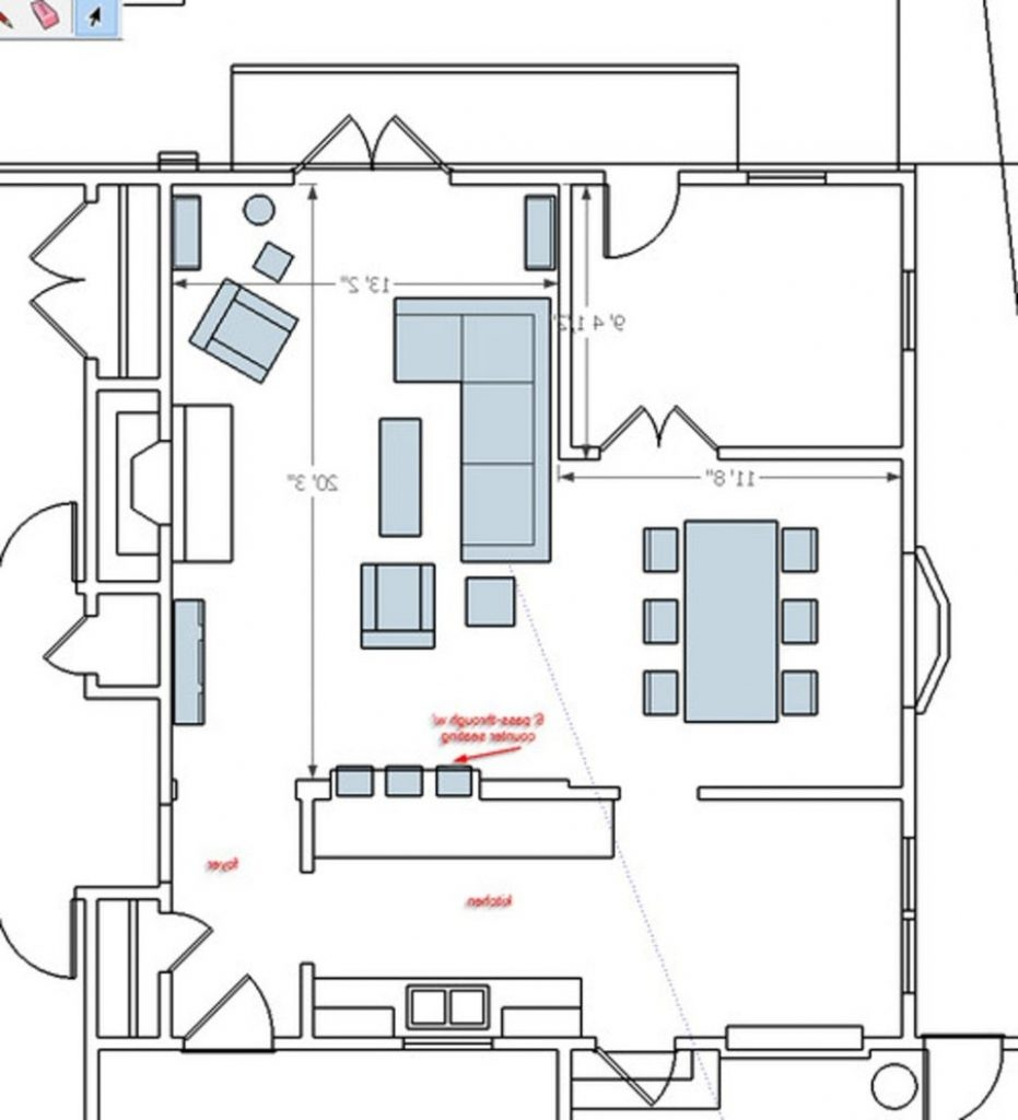 l shaped living room furniture placement photos Furniture layout for my split level living room | Whispering Woods  190 X 240