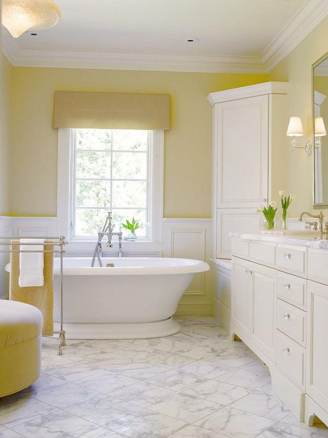 best bathroom color ideas 2019 Benjamin Moore Lemon Sorbet 2019 60 bathroom | time for a change  859 X 642